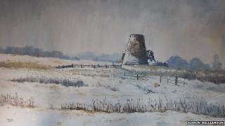 Winter Grazing at St Benets (detail)