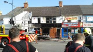 The fire caused major damage to the club's interior