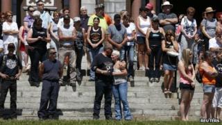 Vigil in Lac-Megantic, Canada (13 July 2013)