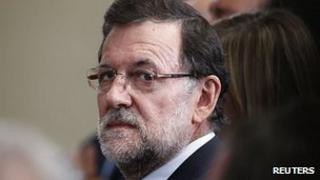 Mariano Rajoy at the Moncloa Palace, Madrid 11 July 2013