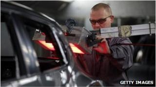 Technician on the Nissan car production line in Sunderland