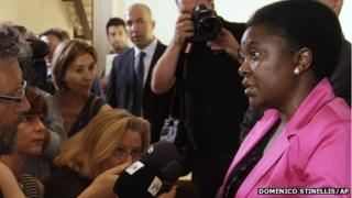 Cecile Kyenge at press conference in Rome (file photo)