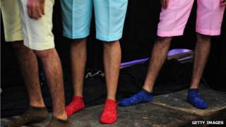 Models in shorts