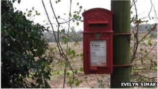 Brampton village postbox