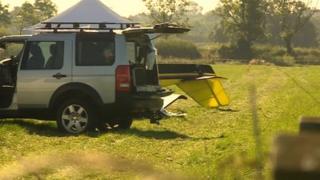 Scene of crash at Fenny Drayton
