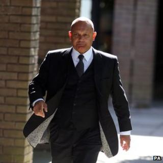 Ray Wilkins arriving at court