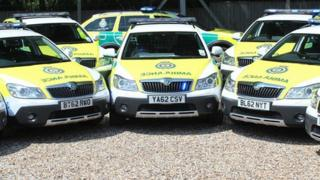 Skoda Scout response cars, East of England Ambulance Service NHS Trust