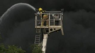 Fire at Norbert Dentressangle site in Easton