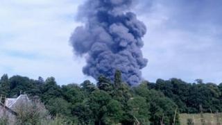 Fire at potato factory near Grantham