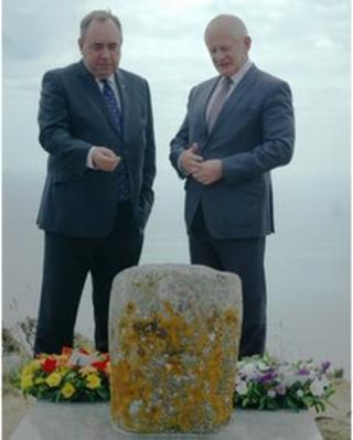 Alex Salmond and Allan Bell