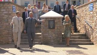 Duke and Duchess of Cornwall in Brixham