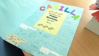 Birthday card for the Duchess of Cornwall by students of the West of England School and College