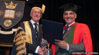 Sir Peter Middleton and Toni Minichiello