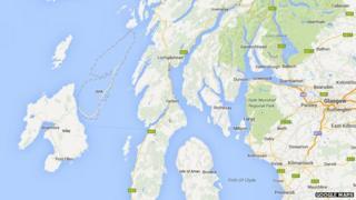 Missing Jura on Google Maps
