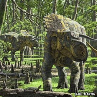 Artist's impression of Nasutoceratops titusi