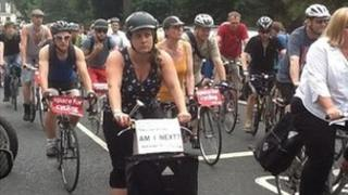 Protest cycle ride
