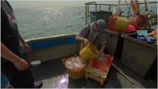 Fishermen in Hythe Bay