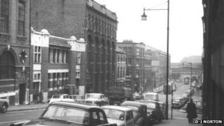 Great Charles Street from the other direction in 1962
