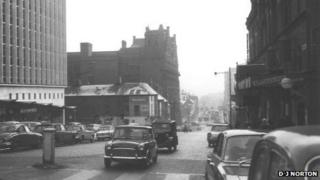 Suffolk Street in Birmingham in 1962