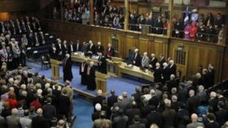 The General Assembly of the Church of Scotland began on Saturday with the installation of a new moderator