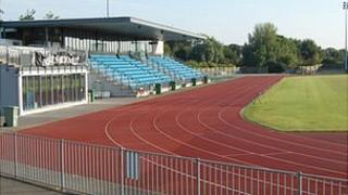 Athletics track at Footes Lane Stadium in Guernsey