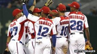 Cuba baseball players