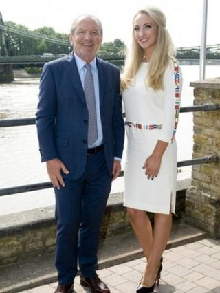 Lord Sugar with his new business partner Leah Totton