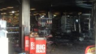 Co-op fire in Kidlington