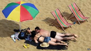 Sunbathers in Kent