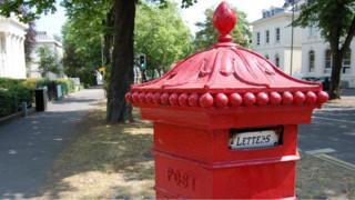 Penfold pillar box at corner of Bayshill Road and Parabola Road in Cheltenham