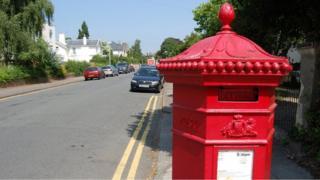 Penfold pillar box at corner of Douro Road and Malvern Place in Cheltenham
