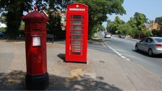 Penfold pillar box at corner of Evesham Road and Cleevelands Drive in Cheltenham