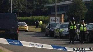 Police cordon in Small Heath