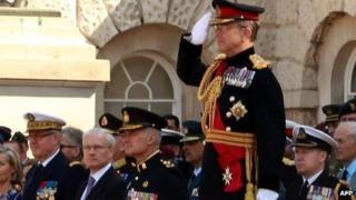 General Sir David Richards in handover ceremony