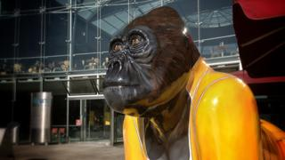 Freddie Radio Go Go Gorilla after being repainted