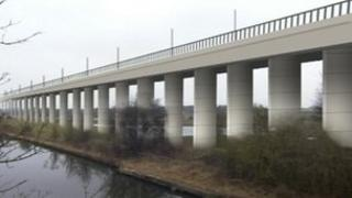 Computer image of proposed viaduct