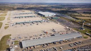 Aerial view of Stansted Airport, Essex