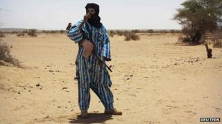 Rebel fighter in Kidal (June 2013)