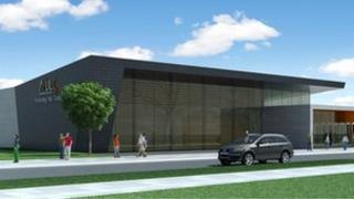 Architect's image of the Newcastle-under-Lyme College proposed Performing Arts Centre