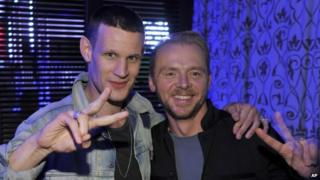 Matt Smith and Simon Pegg