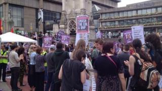 UAF protest Chamberlain Sq