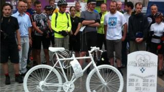 Ghost bike at Holyrood