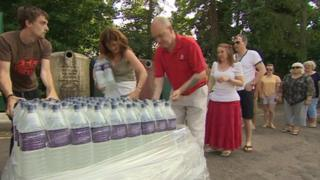 Water being handed out in Cirencester