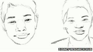computerised artist drawing