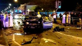 Crash scene aftermath Bolton