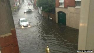 Flash flooding in Station Road, Erdington