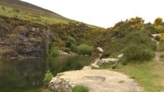 Disused quarry in Annalong