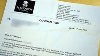 Plymouth City Council tax letter