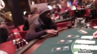 Cisse at a gaming table in Aspers Casino
