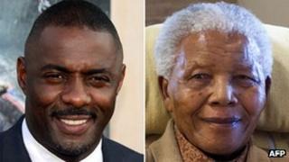 Idris Elba and Nelson Mandela